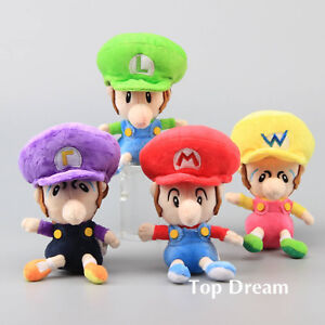"Super Mario Plush Soft Toy Doll Baby Mario Luigi Waluigi Wario Stuffed Animal 6"""