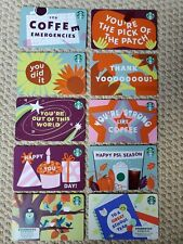 Starbucks Gift Cards 10 card set FALL 2021 collection