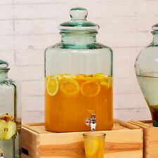 Cristal redondo 12.5L Grande Dispensador de bebidas Zumo Agua Fría Cóctel Bebidas Tarro
