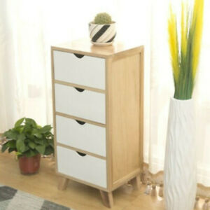 Chest of Drawers Bedside Table Cabinet Nightstand 4 Drawers Storage Bedroom