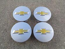 """Chevy Silver 4 Set 2.25"""" 58mm wheel rim center caps Impala Malibu Cruze Cobalt"""