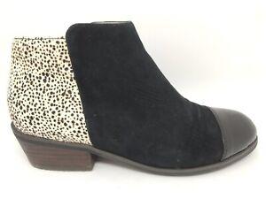 isabella Brown Sz 36 Tama Black Patent/Suede/Animal Print Pony Hair Heel Booties