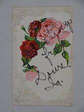 1907 Glittered Postcard Greetings from Dows Iowa to Fay Hineman Oskaloosa IA