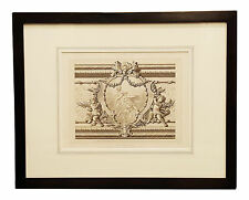 Antique French Louis XV Architectural Detail Print interior Palace Of Versaille