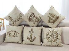 Cushion Covers Pillows Cases Vintage Sailing Exploration Theme Car Decor 45x45cm