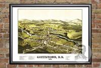 Vintage Goffstown, NH Map 1887 - Historic New Hampshire Art - Old Industrial