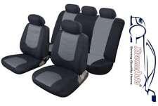 Avus Grey/Black Leather Look Car Seat Covers For VW Bora Golf Polo Passat Jetta