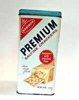 Vintage 1969 Nabisco Premium Saltine Cracker Tin, 14oz, USA