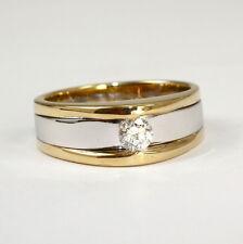 Eleganter Ring in 585 Gelb/Weissgold mit Brillant 0,24 tw.si