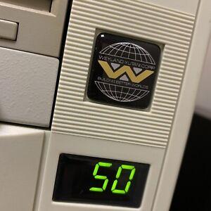 Weyland Yutani Corp Aliens Custom 386 486 Computer Case Badge DOMED Sticker 1x1