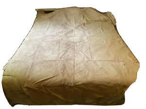 Vintage Australian Leather Cow Hide Sandstone Suede back Upholstery crafts