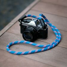HandMade Rope Camera Strap (France Beal Static Rope)Fuji Lieca sony blue 120cm