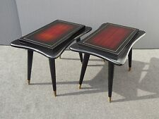 Pair Vintage Gordon's Fine Furniture Asian Oriental Influence Wood END TABLES