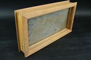 Light Brown Wooden Frame Window Pane Home Living Room Decor Rectangle Piece