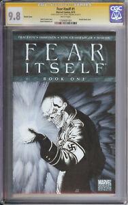 Fear Itself #1 CGC 9.8 Jeffrey Edwards orignial Sketch Art Red Skull Avengers