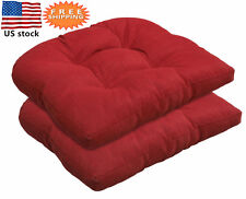 Bossima Outdoor Seat Cushions Patio Wicker Dining Chair Seat Pad 2 pieces Red