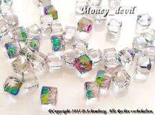 NEU Kristalle aus Glas ca. 4mm Strasssteine 2 Stück Overlay Nageldesign
