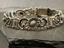 835 Silber Armband Blachian Antikschmuck Traunstein Tracht Blumen Rochallien