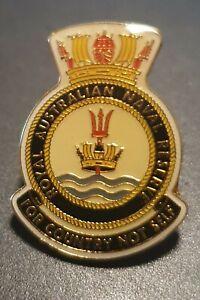 ROYAL AUSTRALIAN NAVAL RESERVE LAPEL BADGE 20MM HIGH ENAMEL & GOLD PLATED (7off)