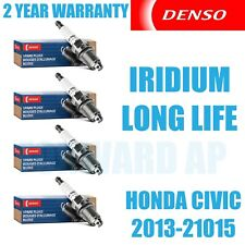 4 pcs Denso Iridium Long Life Spark Plugs 2013-2015 Honda Civic 1.8L L4 Kit