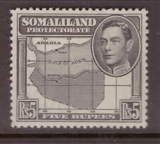 Somaliland  1938 King George VI 5 Rupees Map SG 104 mint hinged
