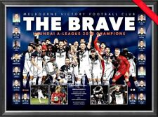 MELBOURNE VICTORY 2018 PRINT FRAMED 2018 A LEAGUE CHAMPIONS OFFICIAL SOCCER