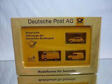 BREKINA VW BEETLE + VOLKSWAGEN BUS T1 + VW 147 - DEUTSCH POST AG - H0 1:87