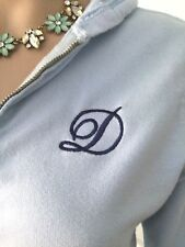 "Cute Chewy Light Blue w/ Monogram ""D"" Sweater Hoodie w/ Modcloth Flair - S"