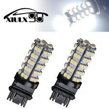 2X 6000K White 3157 LED Brake DRL Tail Stop Light Bulbs 68 SMD T25 3057 4157 US