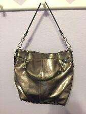 COACH 17165 Metallic Silver Leather Brooke Purse