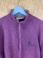 WEIRD FISH, Mens Size M, Burgundy, Small Logo, MACARONI, 1/2 Zip Sweatshirt,*VGC