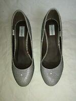 chaussures femme soirée argentées paillettes 39 escarpins