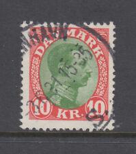 Denmark Sc 131 Christian X 10 Kr Very Fine Used CV= $65.00