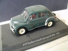 1/43  ELIGOR - RENAULT 4 CV  berline Grand luxe  type R 1060 - 1950