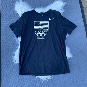 Nike Short Sleeve Athletic Cut Olympic Team Rio de Janeiro Tshirt Size XL