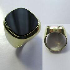 392 - Klassischer Herrenring - Gold 585 - 7,4 Gramm - Onyx -749-