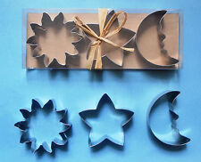 """Free shipping 3"""" Sun Star Moon fondant Baking Biscuit Cookie Cutter mold Set"""