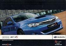 Subaru Impreza 2.5 WRX S Limited Edition 2008 UK Market Foldout Sales Brochure