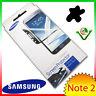 2x Pellicola display originale Samsung per Galaxy Note 2 N7100 contorno NERO