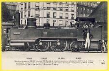 cpa LOCOMOTIVE à VAPEUR pour TRAIN Service de Manoeuvres Construite en 1878