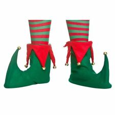Adults Elf Boots Shoe Covers Xmas Pixie Jester Slippers Christmas Fancy Dress Ne