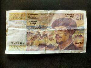France billet 20 francs 1993 type Debussy