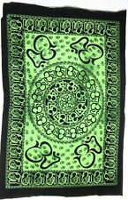 Tapestry Green Color Om Chakra Indian Mandala Poster Textile Decorative Hanging