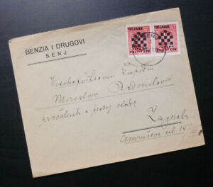 Croatia 1941 - NDH Cover WWII - Sent from Senj to Zagreb A2