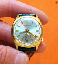 SERVICED VINTAGE 218 ACCUTRON GOLD PLATED TUNING FORK MEN'S WATCH N6