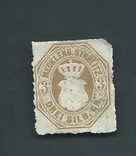 Rare German State Mecklenburg-Strelitz Michel 6 Scott 6 USED 1864 F CV $1275 Cat