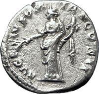 ANTONINUS PIUS 139AD Rome Authentic Ancient Silver Roman Coin PAX PEACE i70126
