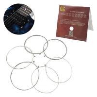 6pcs cordes de guitare électrique E101 en alliage de nickel Wound String Ins 9H