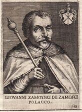 Portrait XVIIe Jan Zamoyski Pologne Poland Polski Hetman Wielki Koronny 1646