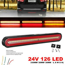 1PC 24V Flowing Brake Turn Signal Driving Tail Light Strip LED Car Truck Trailer